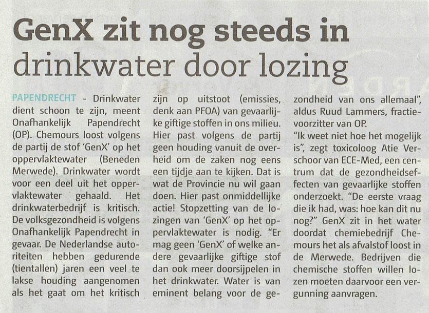 Gepubliceerd in het Papendrechts Nieuwsblad