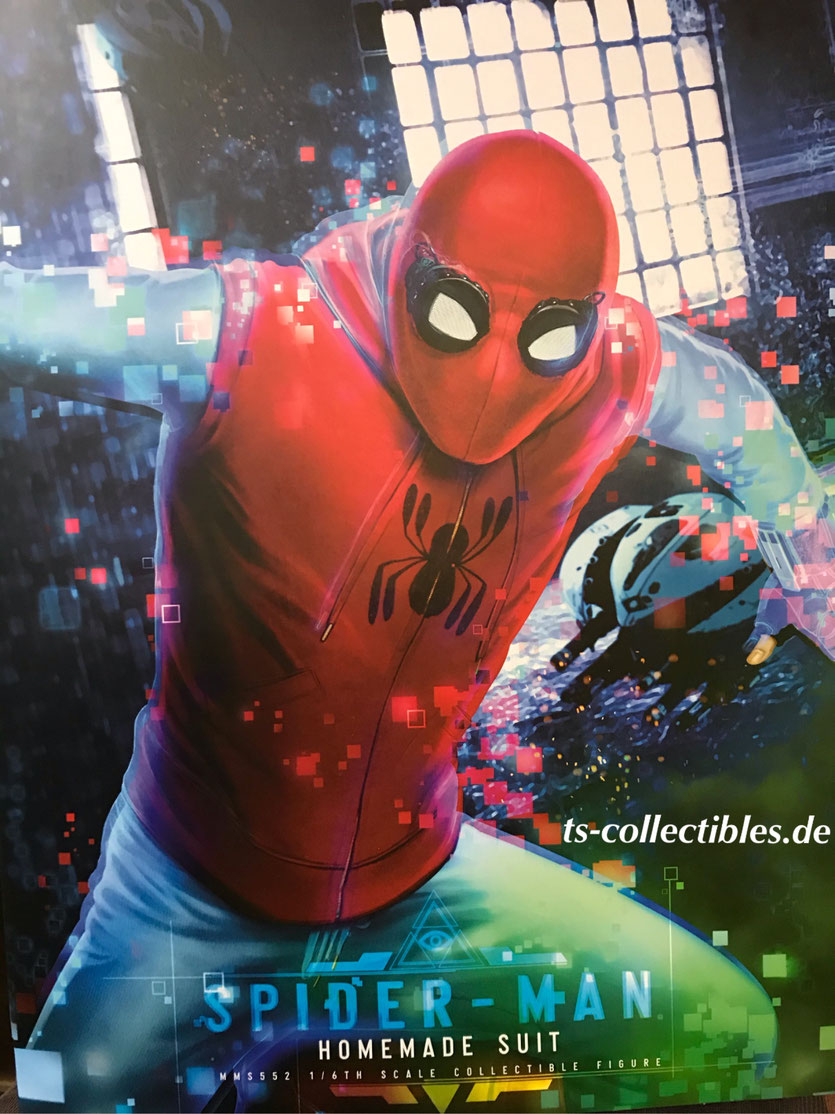 Spider-Man (Homemade Suit) 1/6 Marvel Spider-Man: Far From Home Movie Masterpiece Actionfigur 29cm Hot Toys