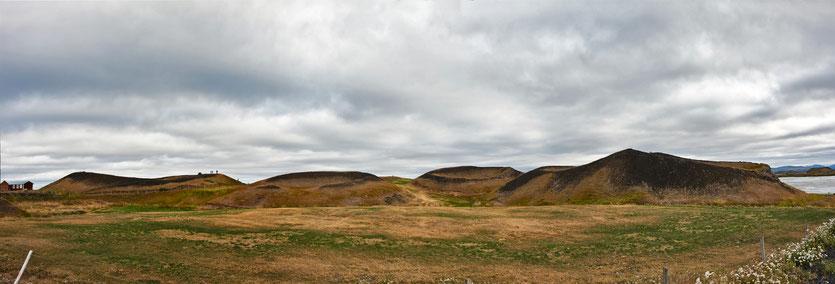 Pseudokrater im Mývatn Seengebiet - Island