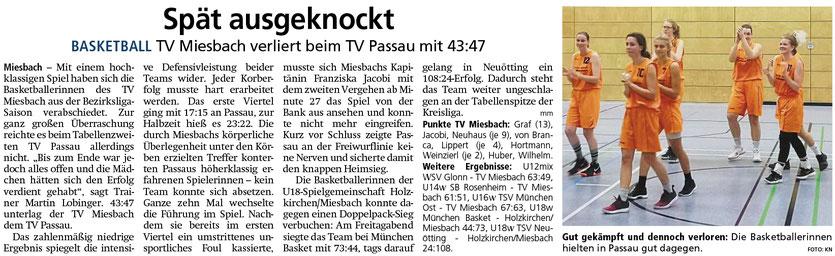 Bericht im Miesbacher Merkur am 26.3.2019 - Zum Vergrößern klicken