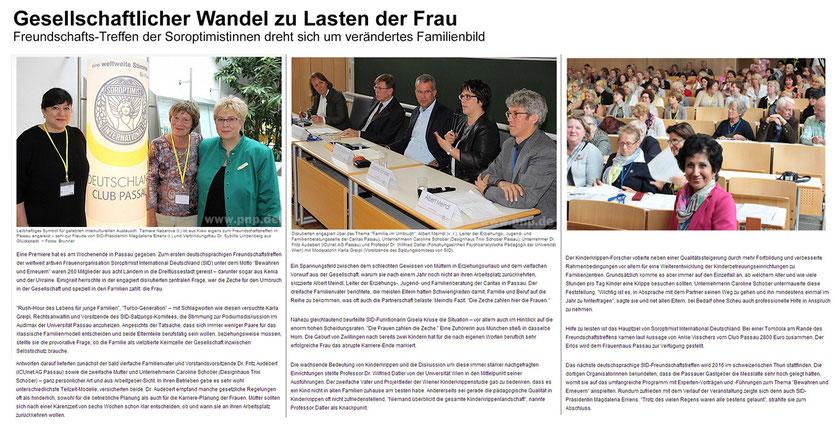 Bericht in der Passauer Neuen Presse