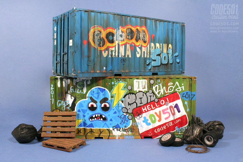 shipping container, code501