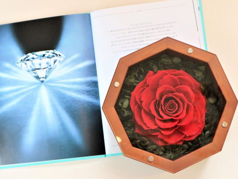 プリザーブドフラワー,ボックス,プロポーズ,大輪,高級,ダイヤモンド