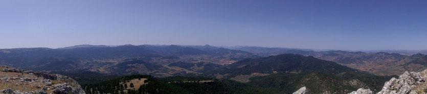 Cima de la peña del Cambrón en la Sierra de Segura