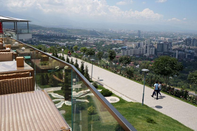 Į Kektebės kalną funikulieriumi galima pasikelti iš Almatos centro