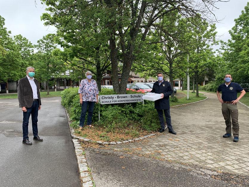 v.l. Jürgen Rudolf, Marianne Winkler, Thorsten Schleich und Roland Brauner