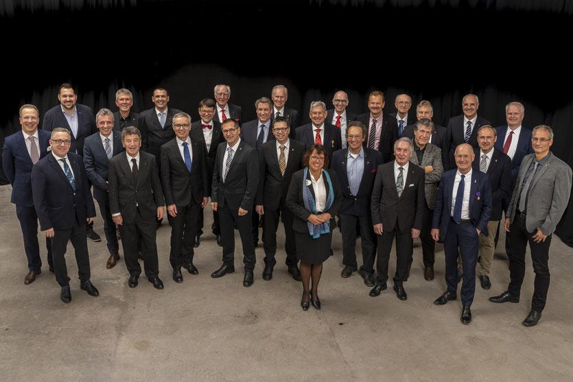 Unsere Clubmitglieder anlässlich des 60-jährigen Jubiläums am 16. Januar 2019 mit District Governor Birgit Bea (Mitte)