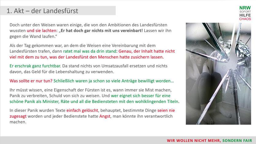 Nachträglich werden die Texte der NRW Regierung bezüglich Corona Soforthilfe gelöscht und geändert© Thomas von Korvey