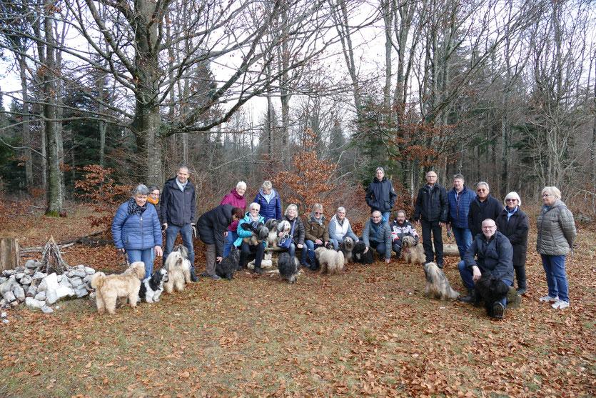 Gruppenfoto Spaziergang/Chlousehöck, 24. November 2018 Hohmatt