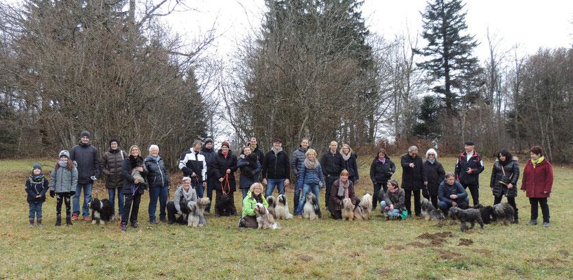 Gruppenfoto Spaziergang/Chlousehöck, 26. November 2016 Hohmatt