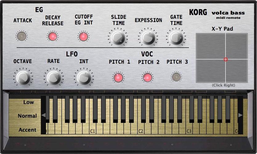 Korg Volca Bass Midi Editor, VST and Standalone