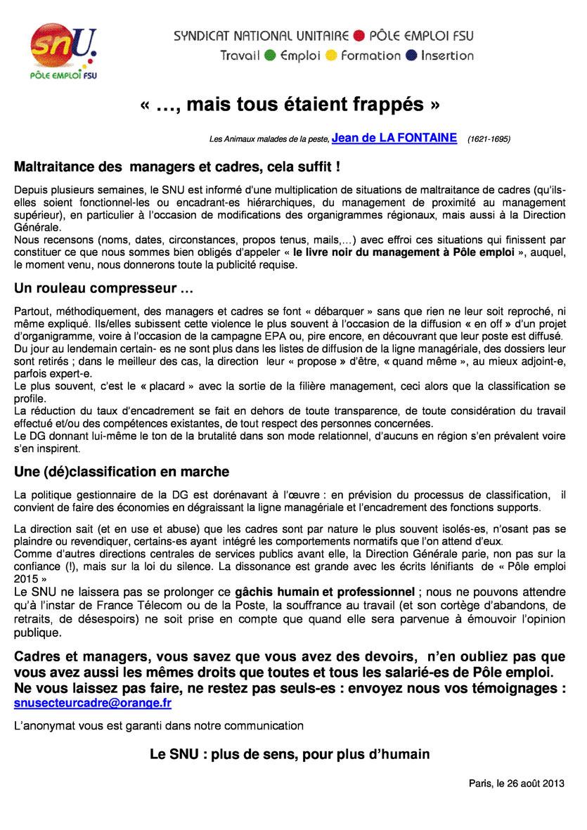 MALTRAITANCE DES CADRES MANAGERS RECTO