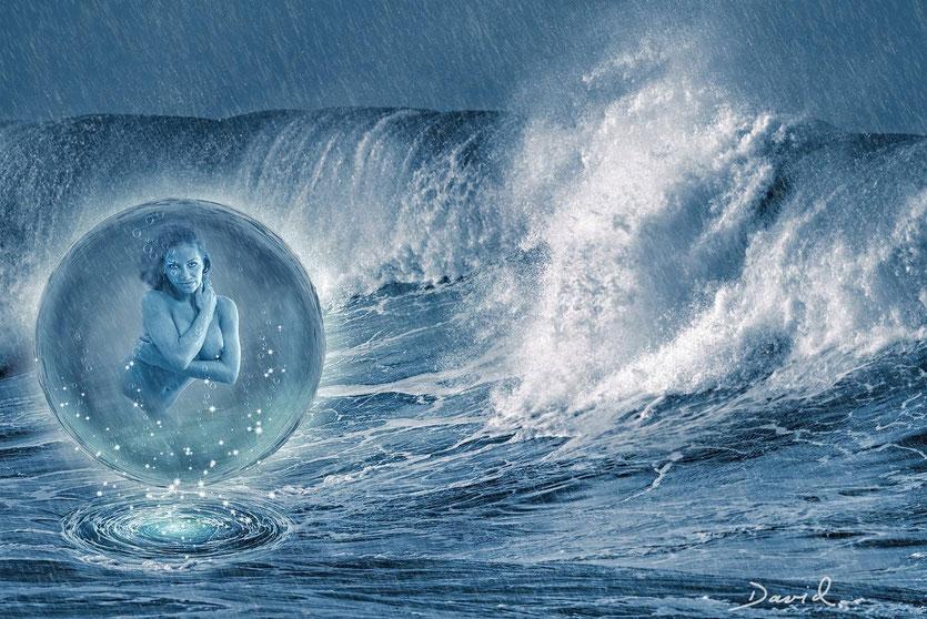 Composing: Geburt einer Meerjungfrau (dritte Variante)
