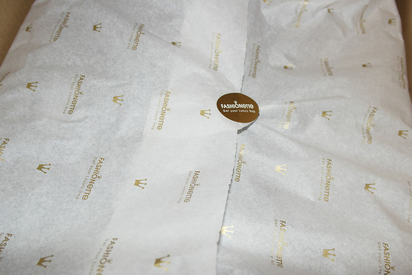 Fashionette Bestellung hübsch verpackt