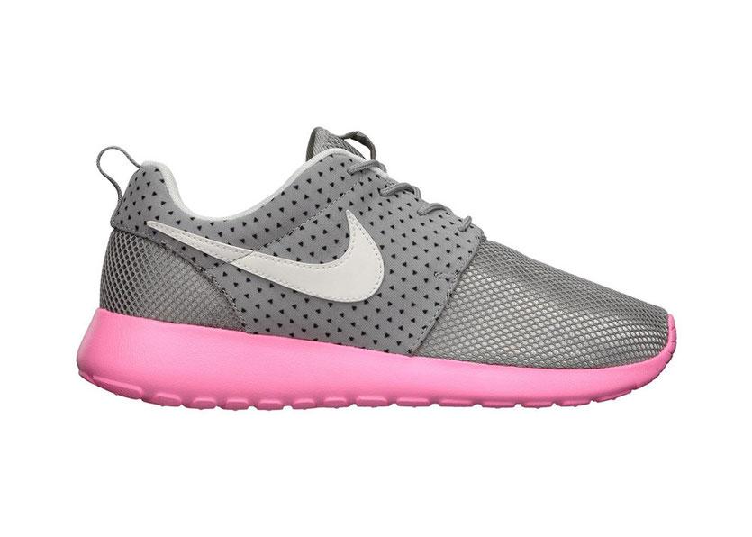 Nike Roshe Run mesh Sneaker pink / grey