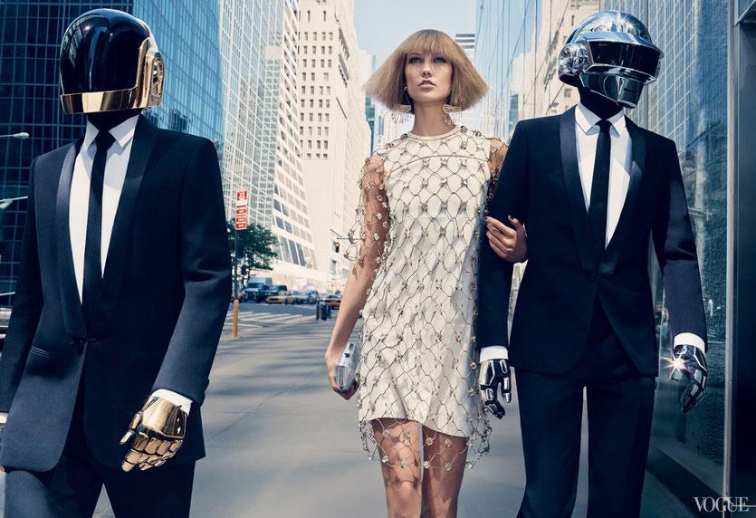 Karli Kloss & Daft Punk for Vogue Fashion