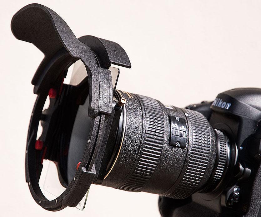 Praxistest Filterprotector von fotoabenteuer.de: NIKON D4 mit AF-S 2,8/28-70 mm, HAIDA Filterhalter 100 mm und Grauverlauffilter sowie Filterprotector mit Weitwinkelblende. www.bonnescape.de