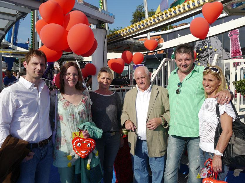 Markus Kirch und Claudia Klein, Claudia Kipp und Rudolf von der Gathen (GKS e.G.), Fränk und Stefanie Münch.