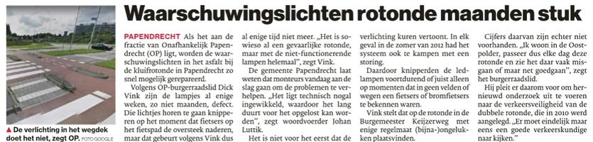 Artikel verschenen in AD De Dordtenaar van 24 mei 2018