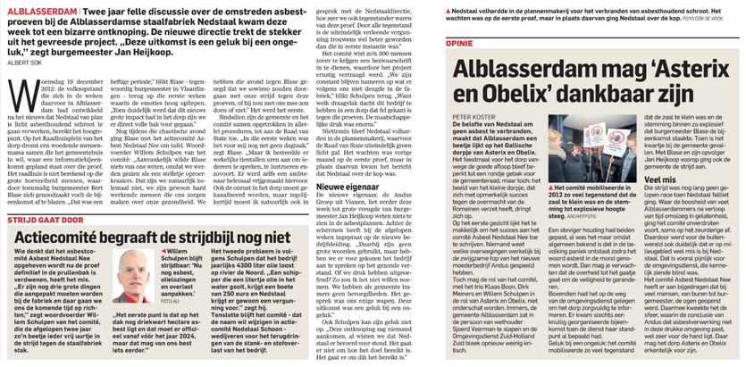 Artikel verschenen op 15 november 2014 in AD de Dordtenaar