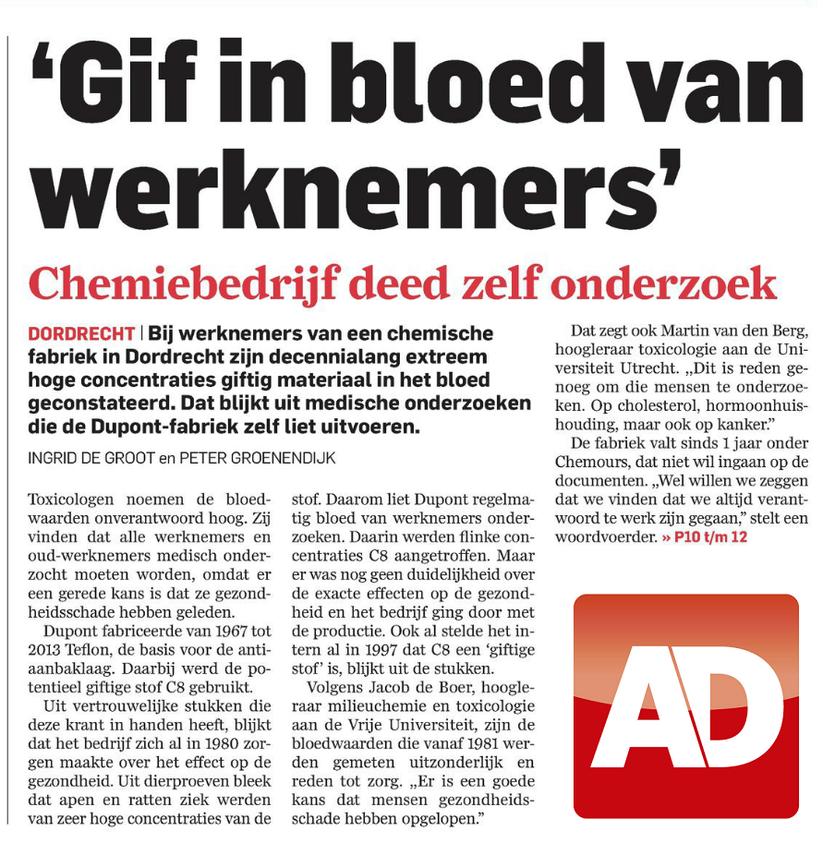 Artikel verschenen in het Algemeen Dagblad op zaterdag 05 maart 2016