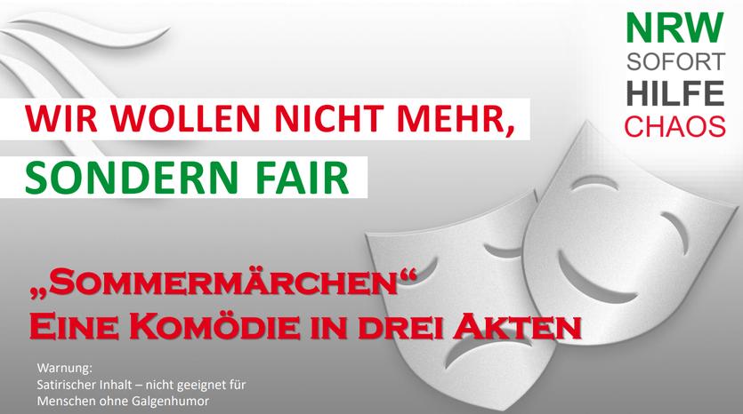 """"""" Sommermärchen über NRW Corona Soforthilfe © Thomas von Korvey"""