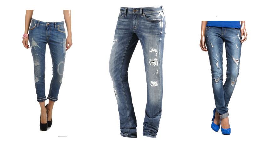 Coole Jeans im angesagten Destroyed Look