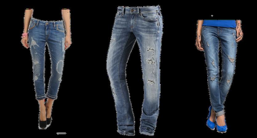 Coole Jeans im angesagten Destroyed Look