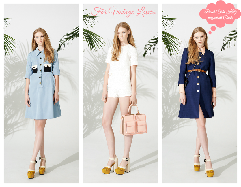 Orla Kiely meets Clarks   Coole Fashion Kombo im Stil der Sechziger Jahre
