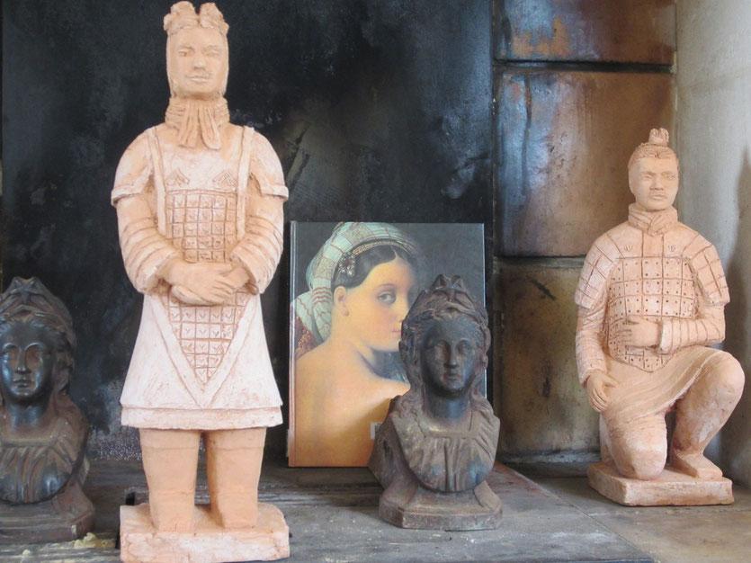 guerriers chinois sculptures argile nouveausculpteur 2014