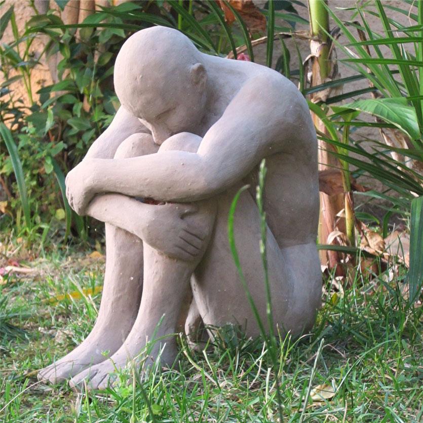l'homme assis.sculpture argile 2013.