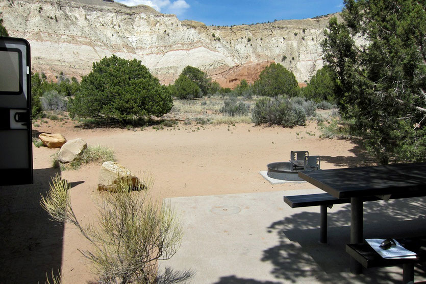 Kodachrome Basin SP Campground USA Südwesten Nationalpark Route