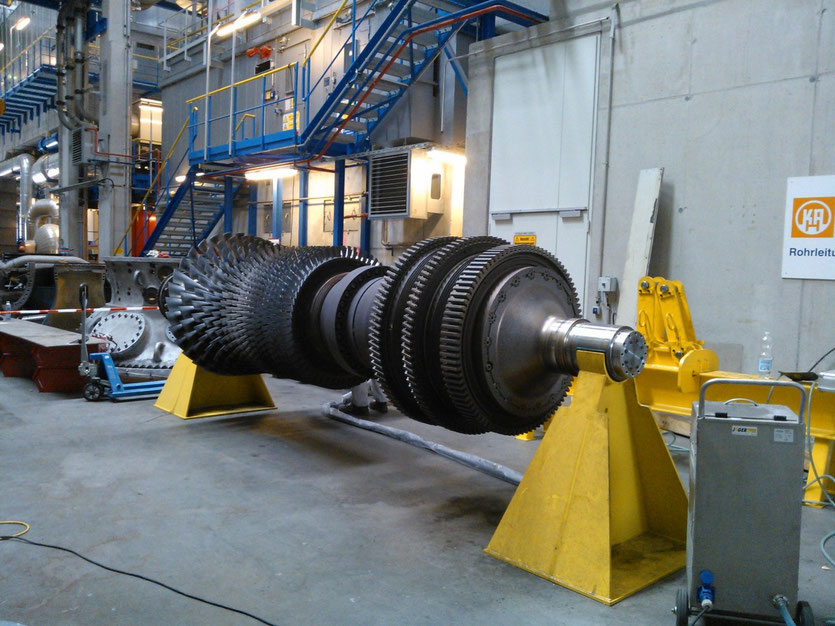 Gasturbinenrotor fertig gereinigt