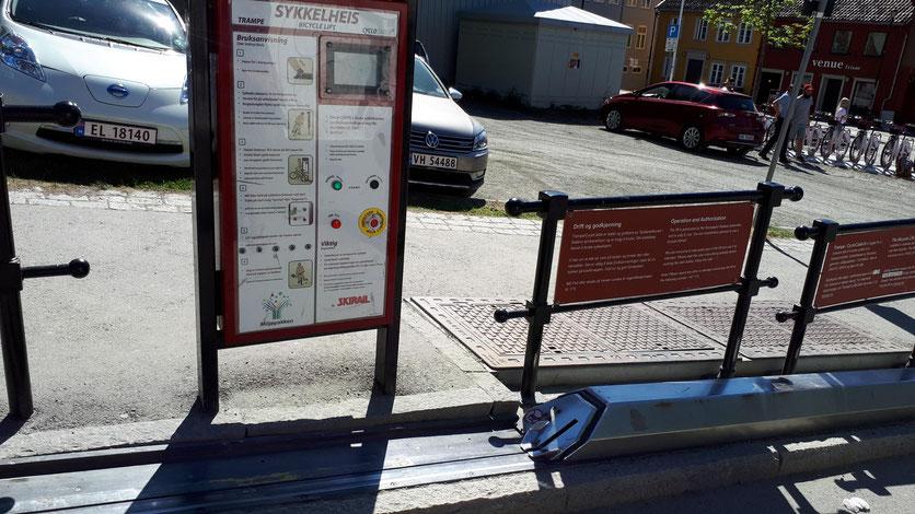 Fahrradlift in Trondheim