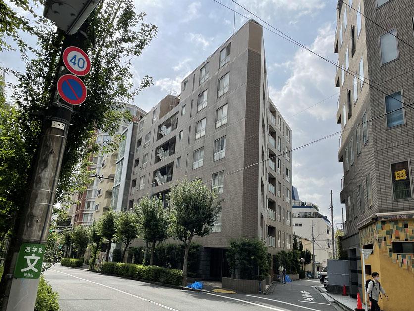 マートルコート恵比寿南・Ⅱ 恵比寿駅方向から撮影