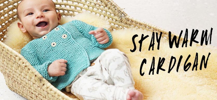 Stay Warm Cardigan - Baby Jäckchen Strickset von WOOLTWIST