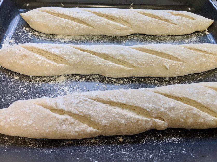 Baguette einschneiden