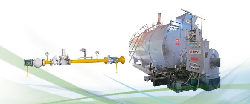 Tren de calibración para calderas a biogás