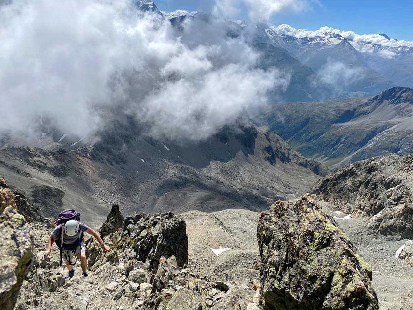 Wanderung  Piz Julier Gipfelgrat, Oberengadin