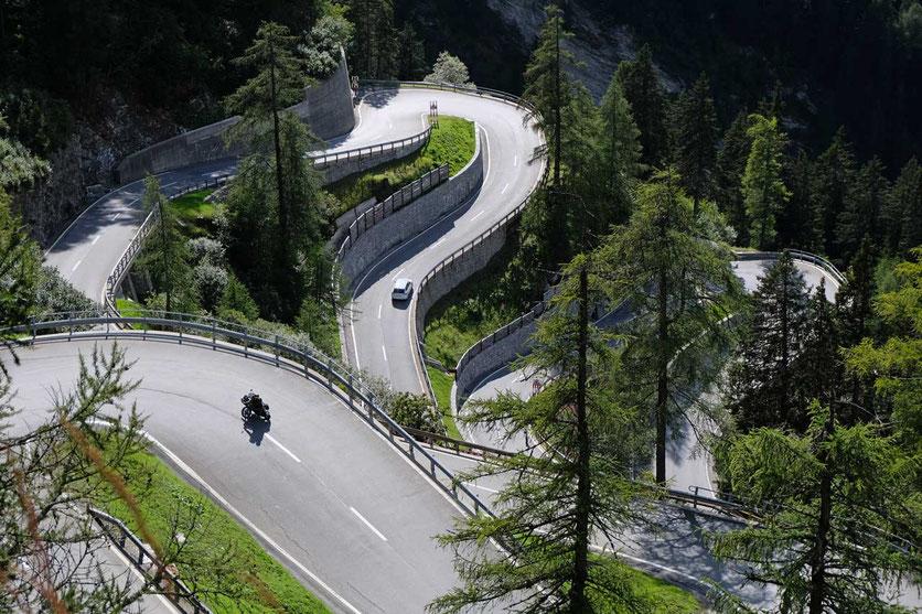 Maloja Passstrasse, Schweiz