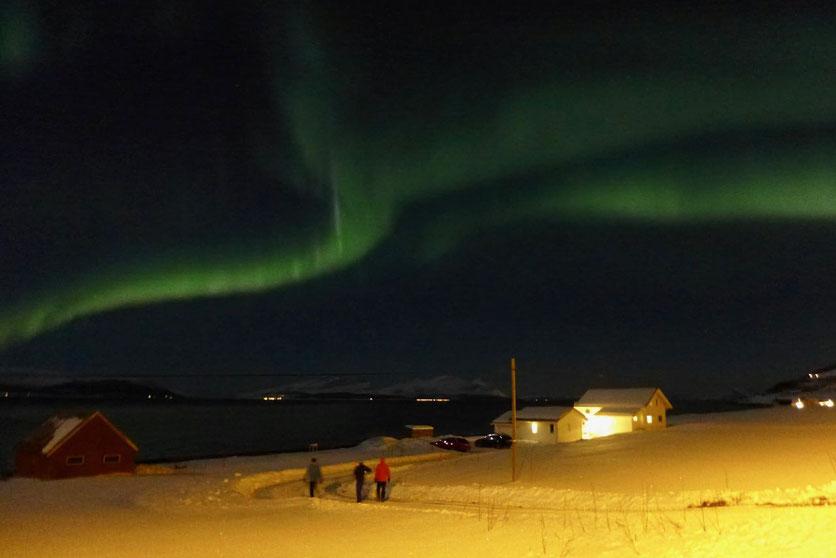 Nordlicht Polarlicht Aurora Borealis Lyngen Alpen
