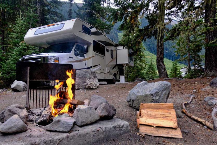 RV Camping, White River Campground, Mt. Rainer Nationalpark
