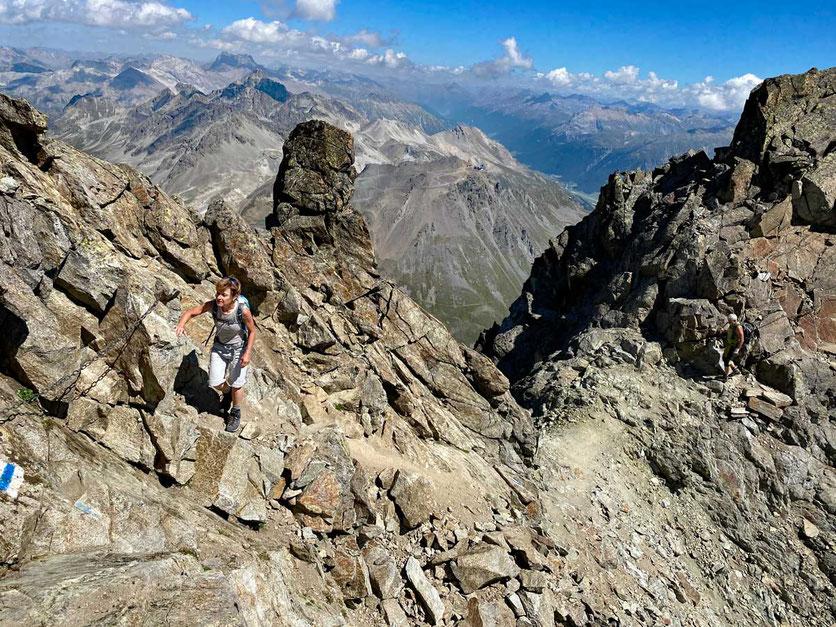 Piz Julier Gipfelgrat Wanderung