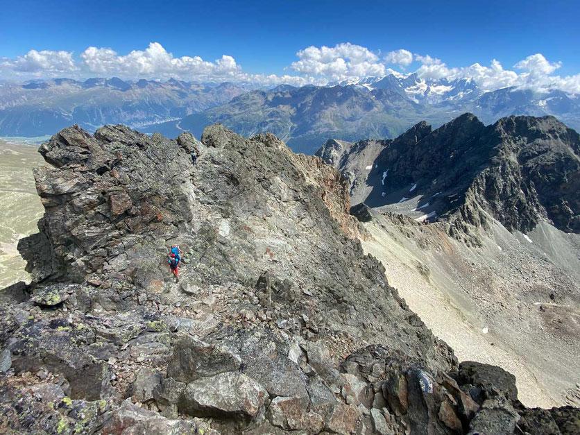 Wanderung  Piz Julier Gipfelgrat, Oberengadin, Schweiz