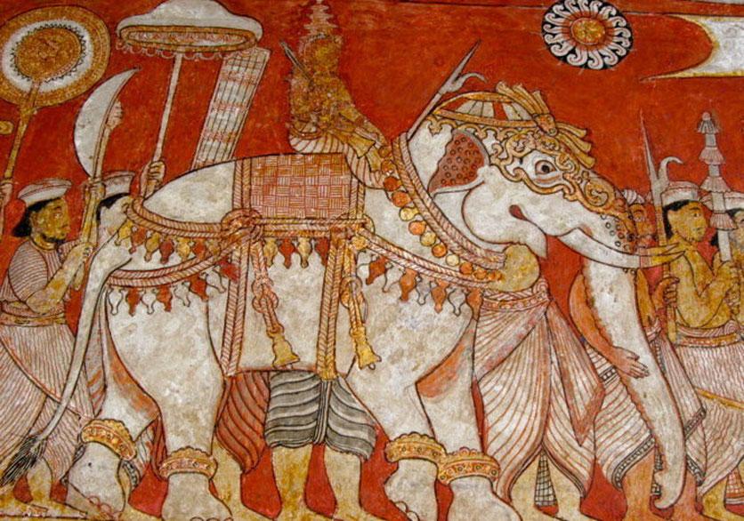 DEGALDORUWA TEMple art near Kandy