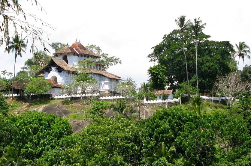 Lankatilaka Temple trail near Kandy Sri Lanka