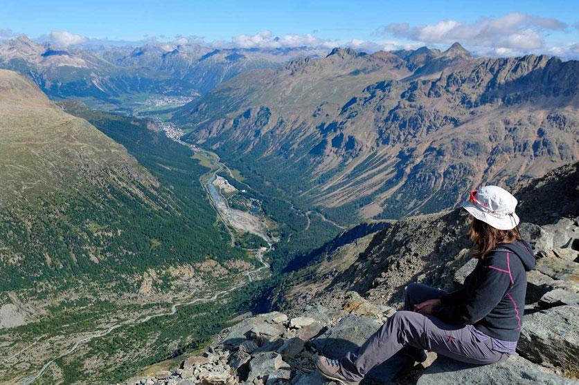 Val Bernina, Wanderung Diavolezza Bergstation
