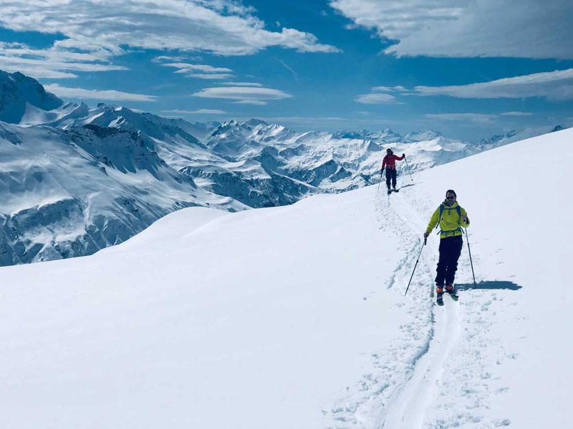 Skitour Les Contamines-Montjoie – Aufstieg zum Col de la Cicle