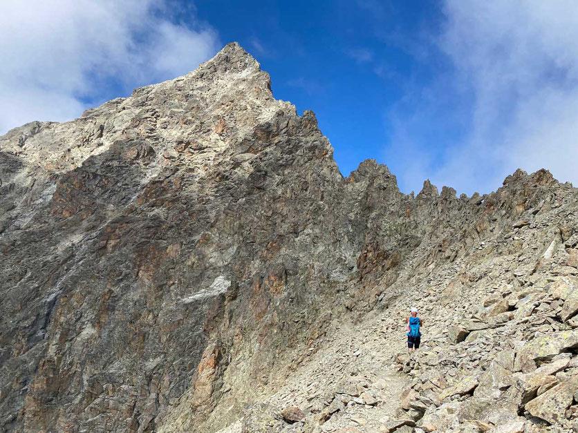 Wanderung Gipfelgrat und Gipfel Piz Julier, Oberengadin