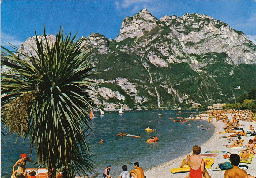 Alte Postkarte: Hochkonjunktur in Riva del Garda